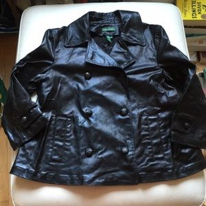 Ralph Lauren Jeans Co. Black Shiny Peacoat